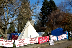 Abbotsford homeless camp has been issued an eviction notice from the city on November 25. (Olsy Sorokina/BCIT News)
