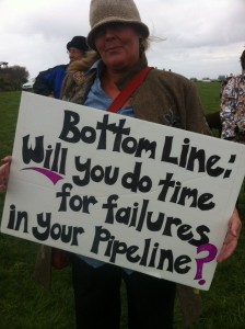 Protesters' signs carried different messages, but all of them appealed for the government officials to stop pipeline expansions (Olsy Sorokina/BCIT News)